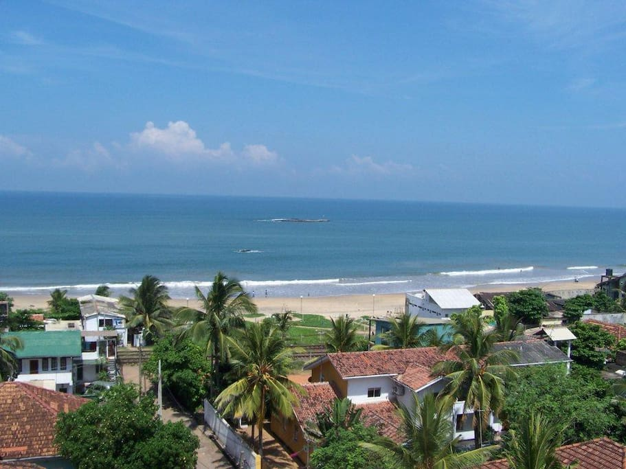 Roof Top. View towards Colombo and Mt Lavinia Hotel
