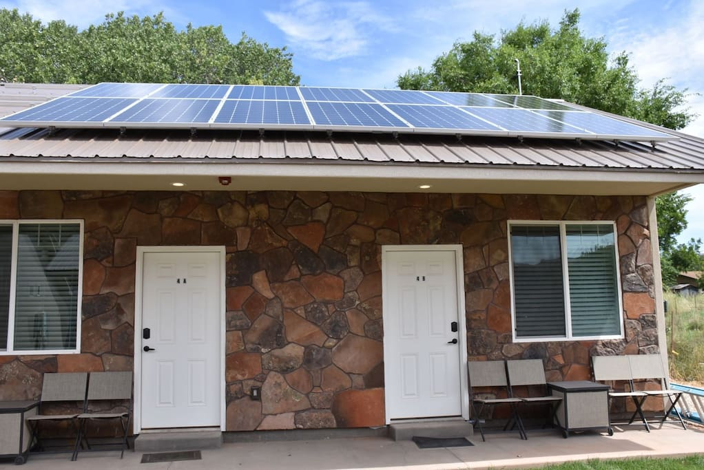 Solar panels run our project