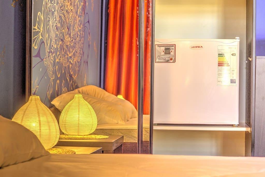В номере есть холодильник