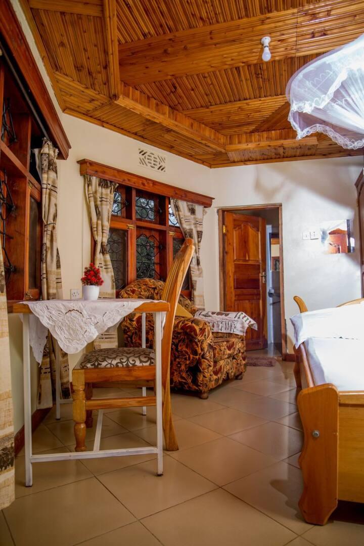 Double bedroom with beautiful garden