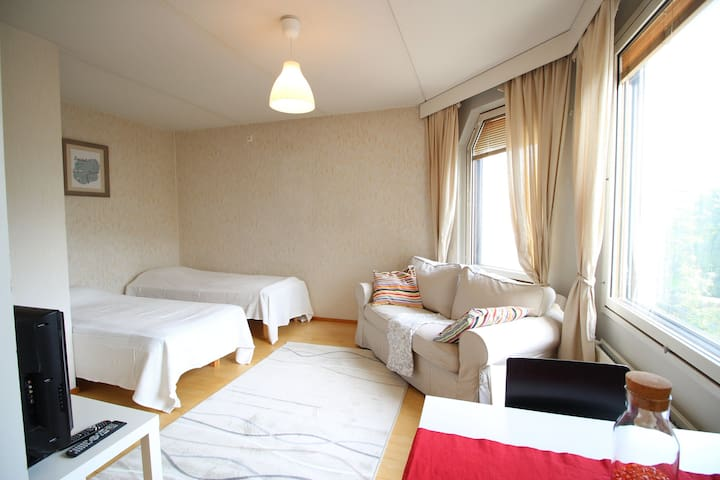 Studio apartment for two with a sauna in Amuri, Tampere (ID 3944)