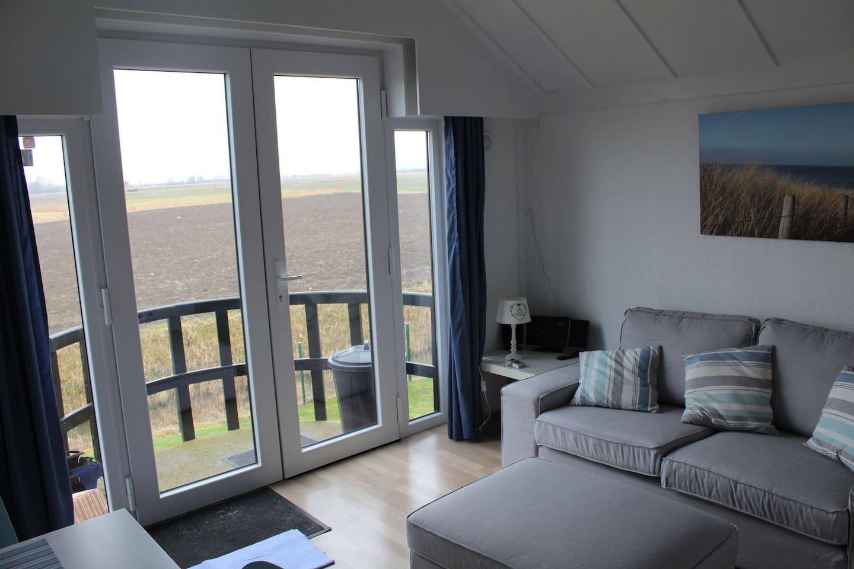 living avec vue sur les polders