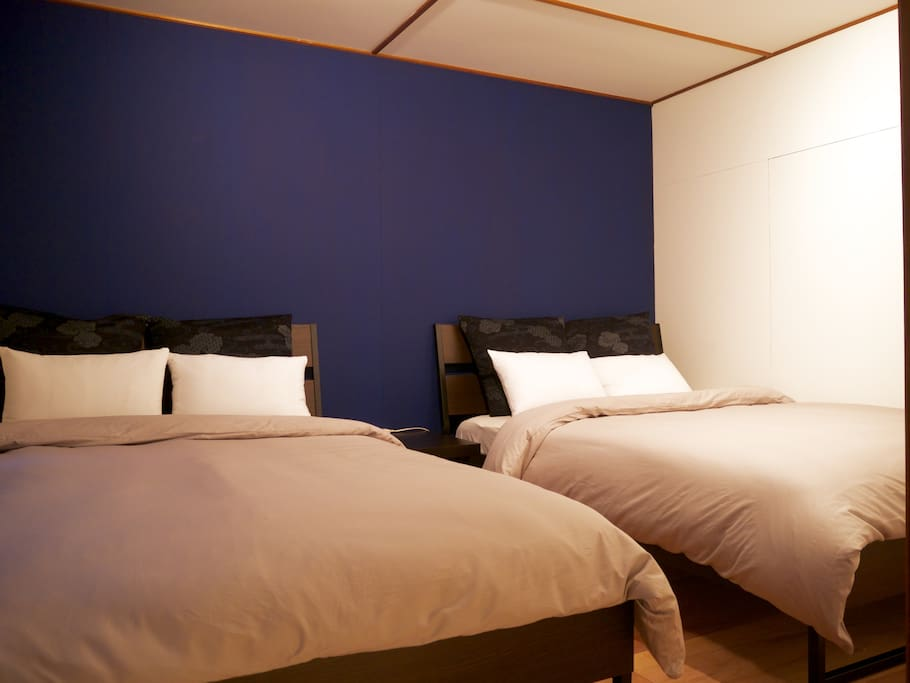 a bed room(two double size beds)