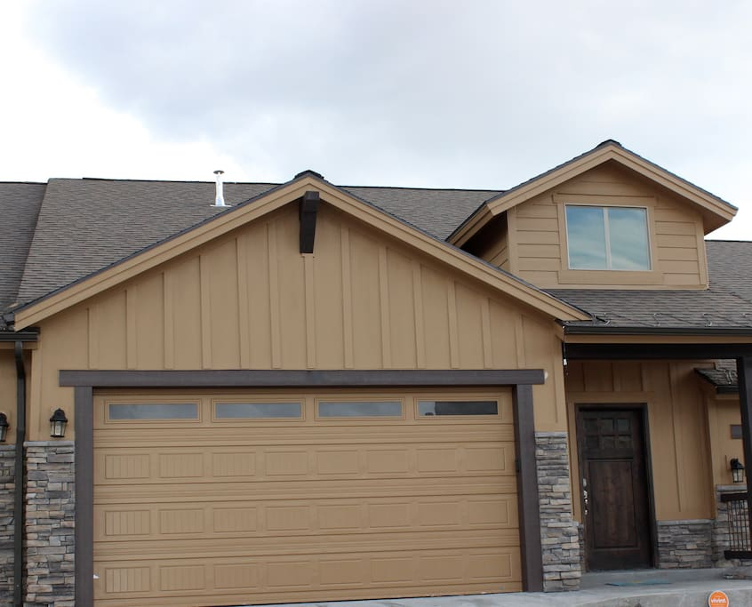 Front exterior and garage