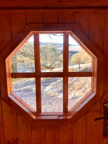 View through the door