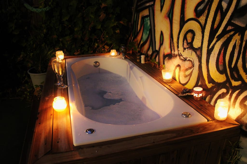 Have a Romantic Stay in.... in The Out Doors Jacuzzy!