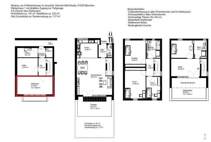 Teilmöblierter 26m²Hobbyraum(gegen Hitze) Neubau