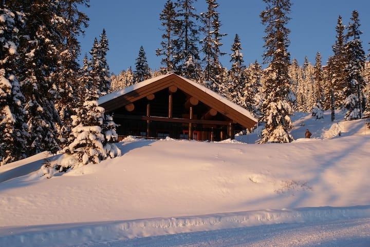 Berghstua Natrudstilen lovely logg mountain cabin