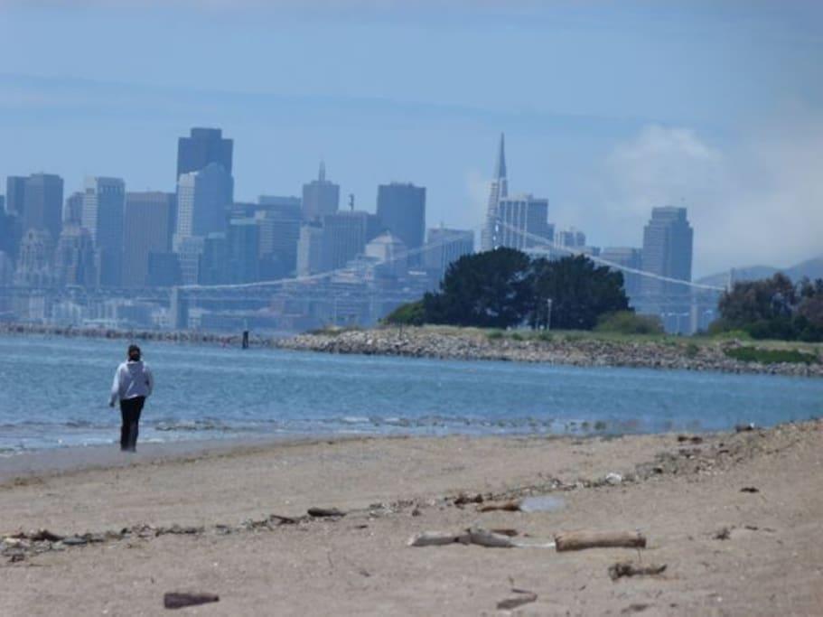 Crab Cove Park, a ten minute walk