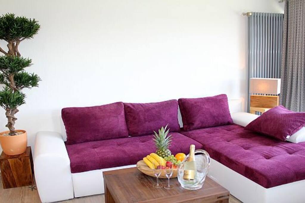 ferienwohnung maarh he whirlpool sauna wlan appartamenti in affitto a schalkenmehren. Black Bedroom Furniture Sets. Home Design Ideas