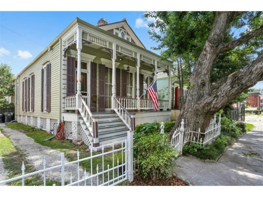 The classic eastlake victorian double is a New Orleans architectural icon