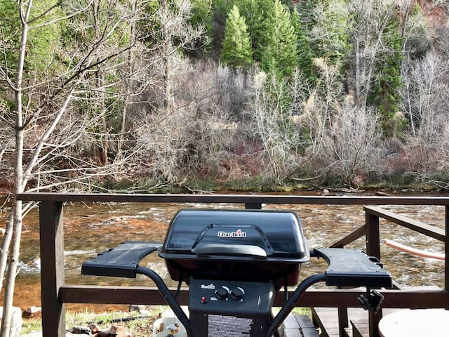 Propane grill available for guests to use
