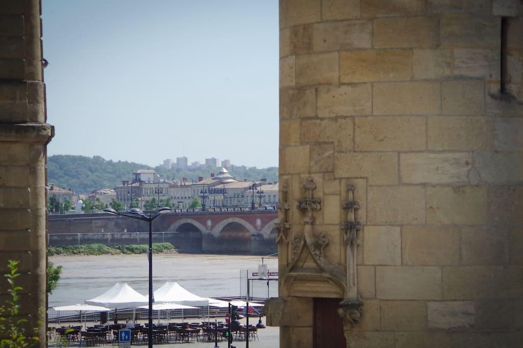 Vue sur la Garonne de l'appartement