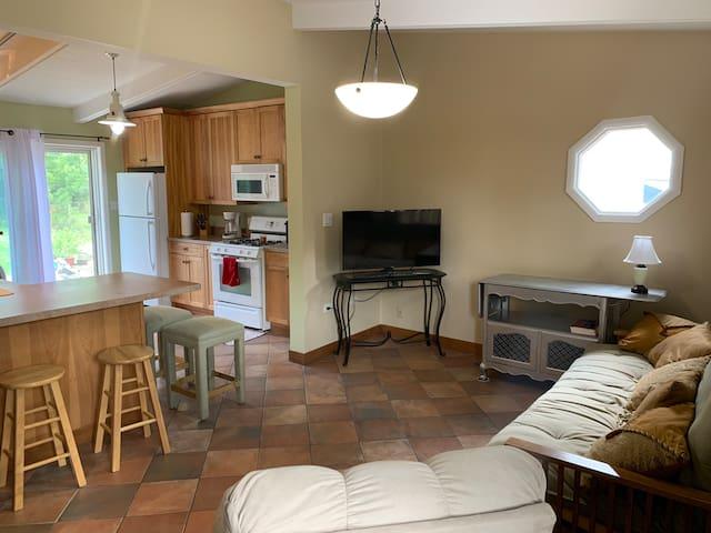 Living Room. Kitchen