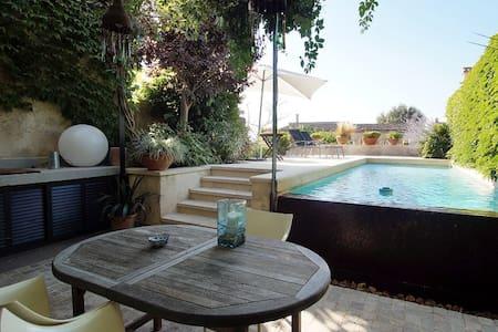 house with swimingpool in algaida .