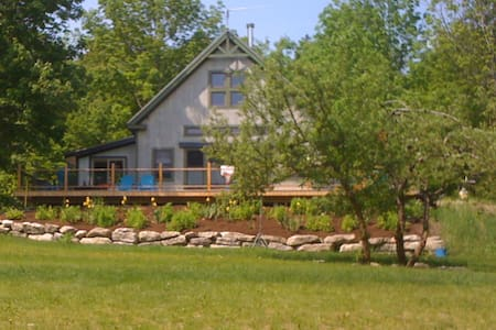 Bright, modern home in the Maine woods near coast - Ellsworth - Rumah