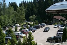 The parking of the hotel