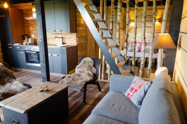 La cabane du cerf et son sauna