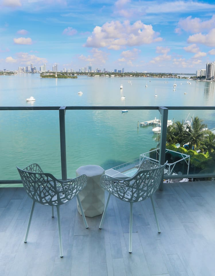 Relax on the Balcony with the best view in the Miami Beach!