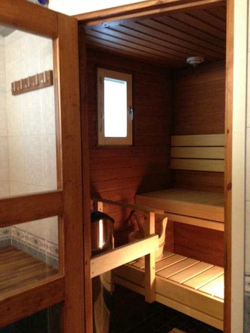 Feel fresh in our sauna! Yes, we have our own finnish sauna. You can enjoy the sauna without going out of house.
