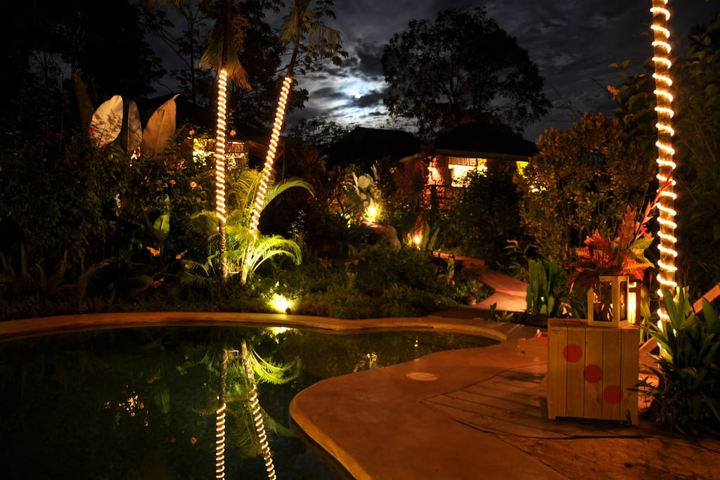 Pool by night / PIscine de nuit / Piscine de noche