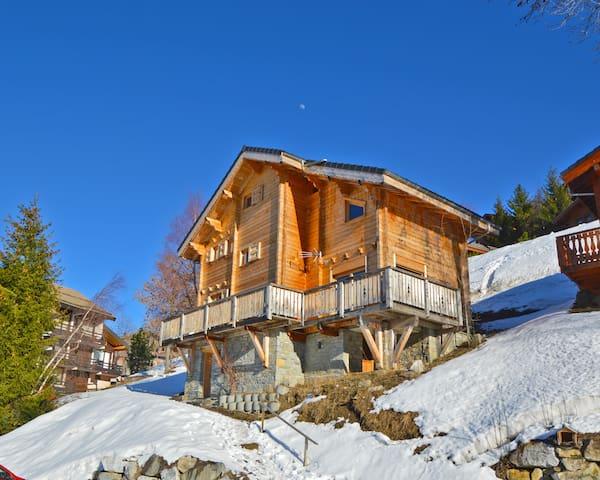Chalet Phoenix 14p 3OOm pistes LaPlagne chem.Sauna