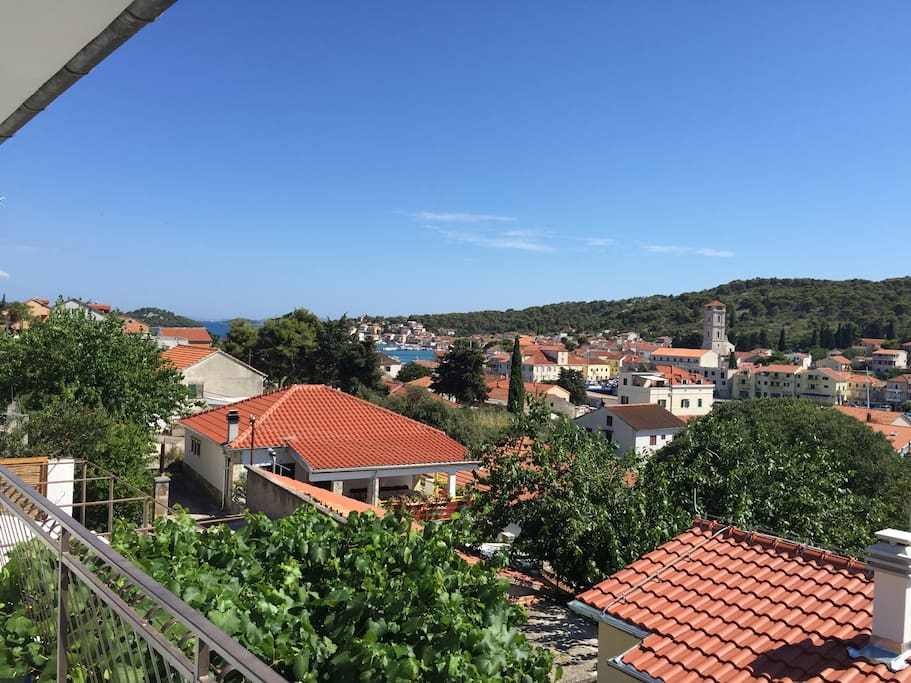 View from balcony - village center