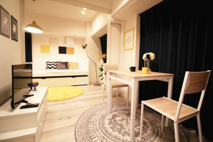 7mins walk to Omotesando Sta!Free WIFI! For 3 - Shibuya-ku