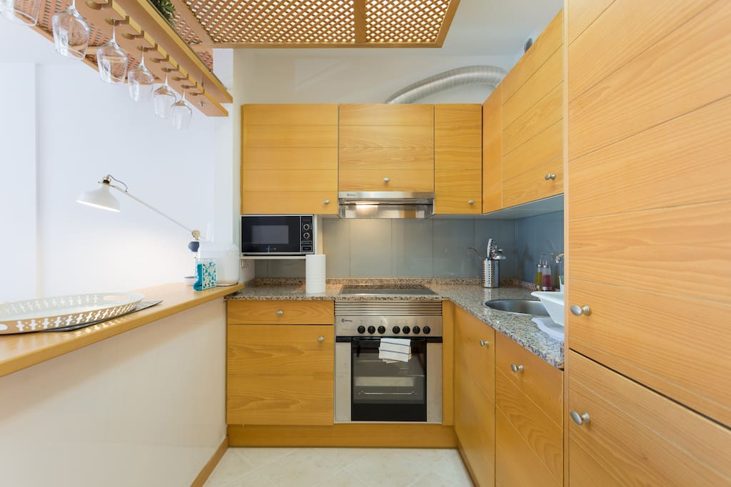 kitchen fully equipped with everything you need for cooking