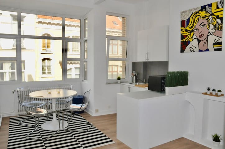 Studio meublé, neuf - Quartier Bascule/Louise