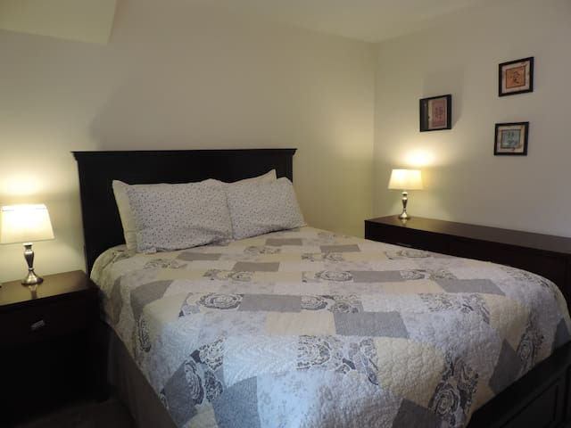 Private bedroom #2 with queen bed
