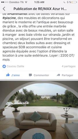 Maison ds un endroit magnifique - Hammamet