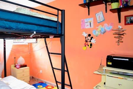Habitacion con litera para 2 o 3 - House