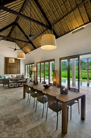 family room with amazing view