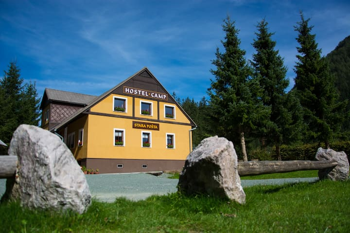 Cozy Hostel&Glamping with mountian view - Zgornje Jezersko - Bed & Breakfast