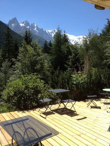 Petit appartement vue mont blanc