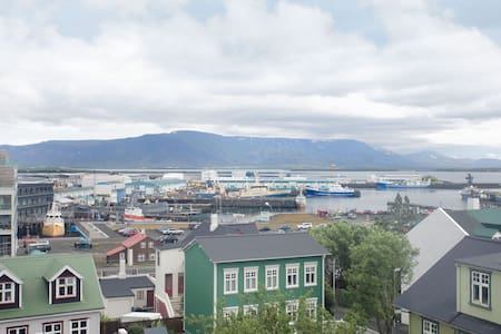 Charming apartment located downtown Reykjavik in the best possible location, less than 5 minutes walk to Lækjartorg, the city center.Museums, restaurants, bars, the harbour and much more around the corner. Beautiful harbour view and south balcony.