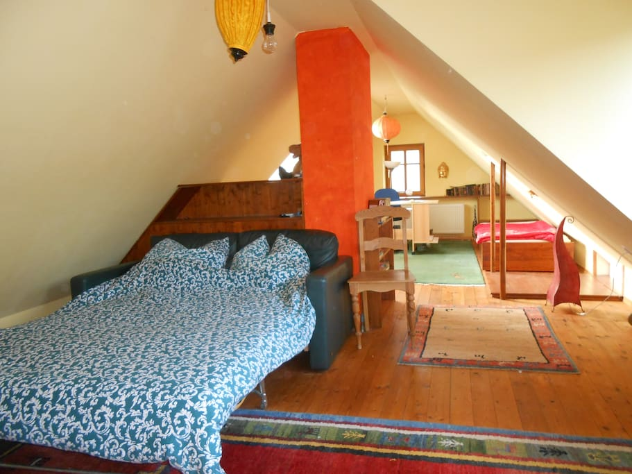 Dachboden mit 4 Schlafplätzen