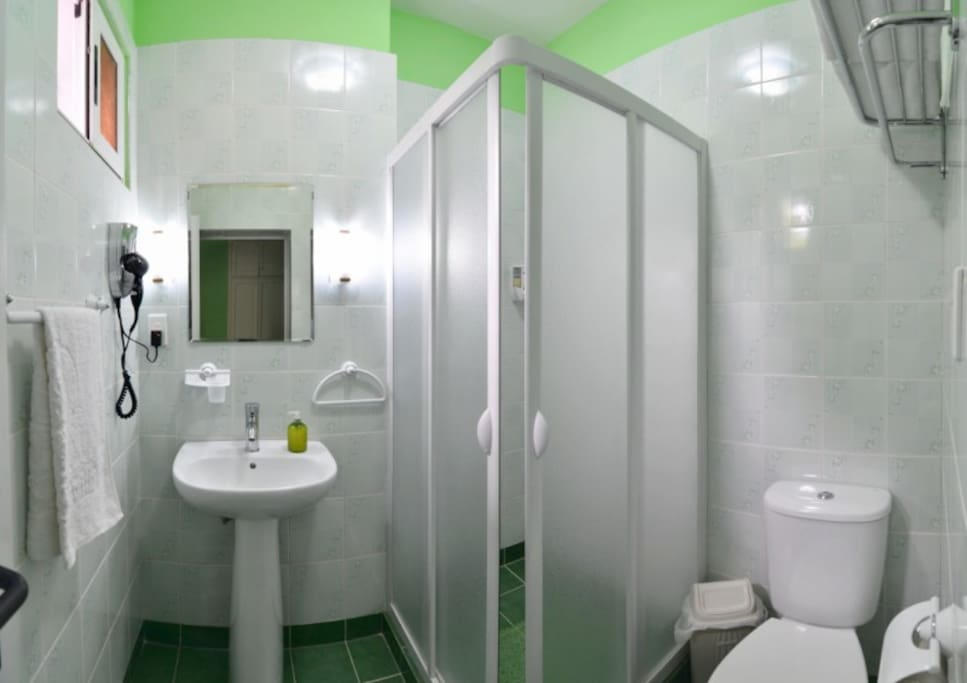 Hostal d´ Soto / Baño de Habitación Standard Verde