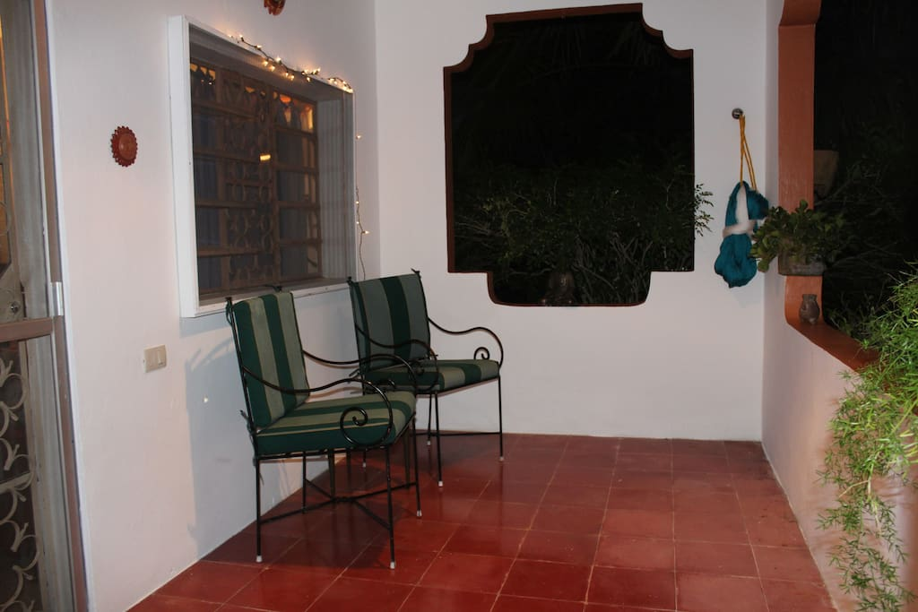 Private Entrance and Terrace with Hammock.