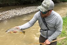 Nice brown trout on property.  Catch and release only for others to enjoy.
