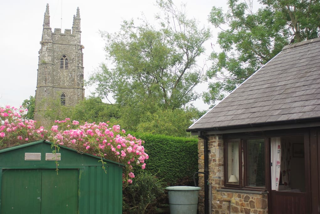 The hamlet church - services nearly every Sunday (sometimes with bellringers), & occasional bellringing practice Tuesday afternoons
