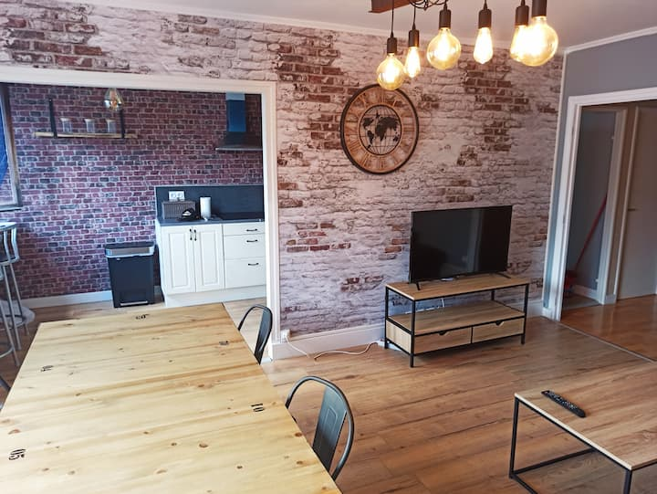 -Apartment 92 m2 Industrial style -