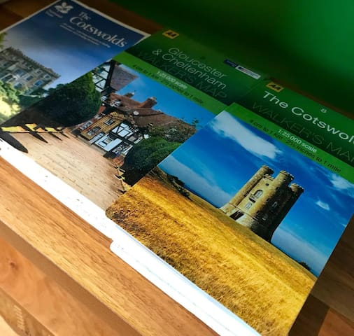 Walking maps of the local area and beyond (Minutes from the Cotswold Way).