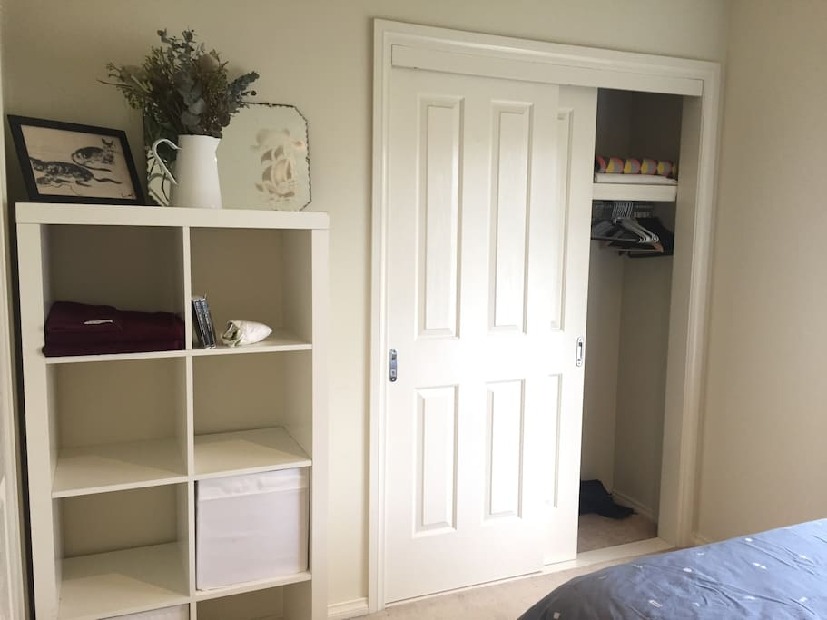 Storage space and built in wardrobe