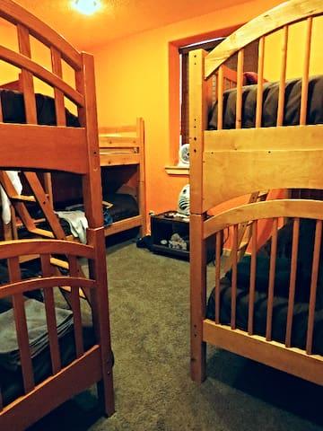 Mixed shared dorm room.