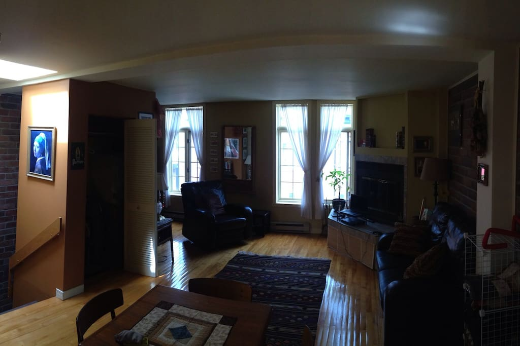 Living room with front windows
