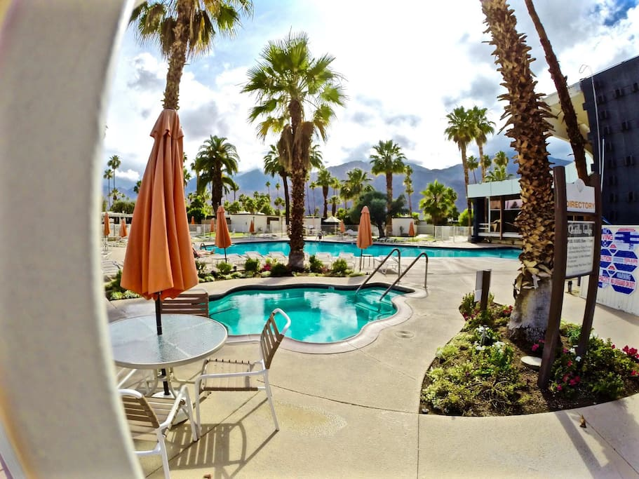Large Heated Pool and two jacuzzis