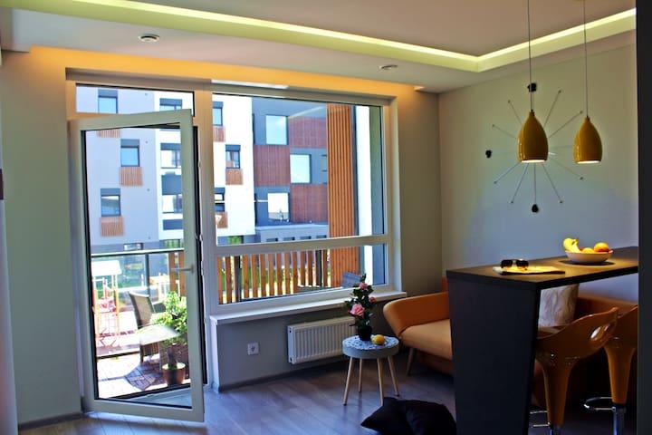 Brand new Studio Apartment in Vilnius with balcony