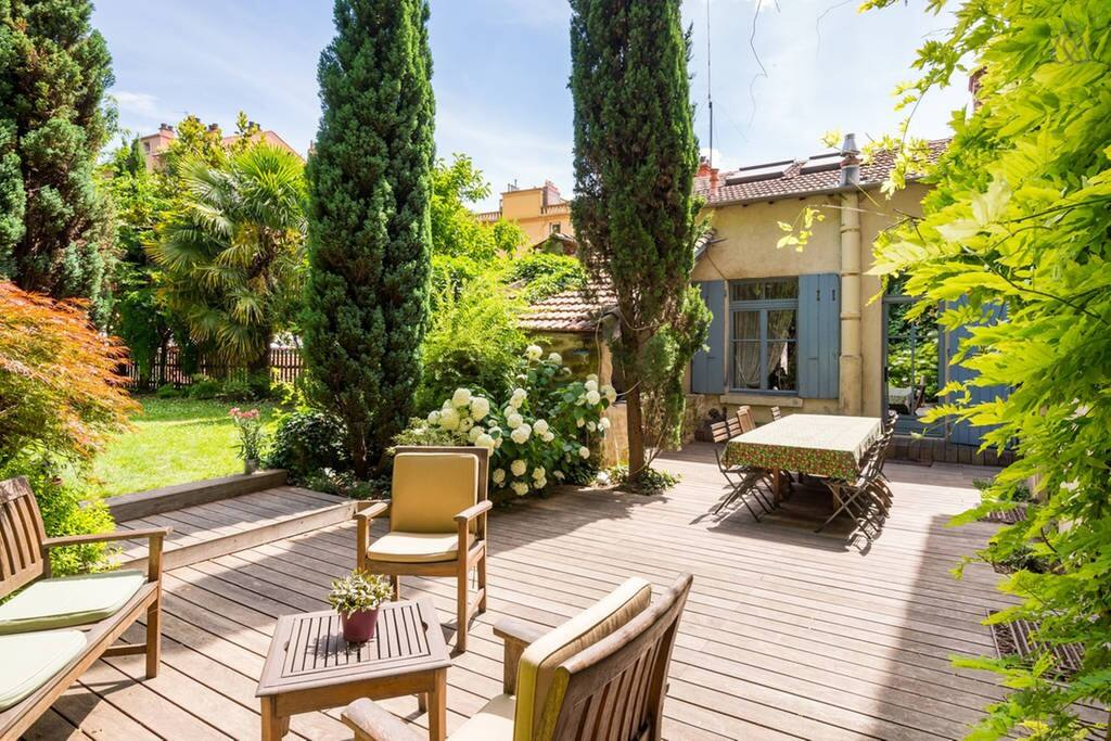 Une terrasse spacieuse